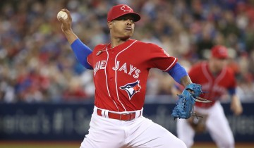 TORONTO, CANADA - JULY 1: Marcus Stroman #6 of the Toronto Blue Jays delivers a pitch in the second inning during MLB game action against the Cleveland Indians on July 1, 2016 at Rogers Centre in Toronto, Ontario, Canada. (Photo by Tom Szczerbowski/Getty Images)